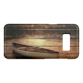 Primitive Wood grain reflection Lake House Canoe Case-Mate Samsung Galaxy S8 Case