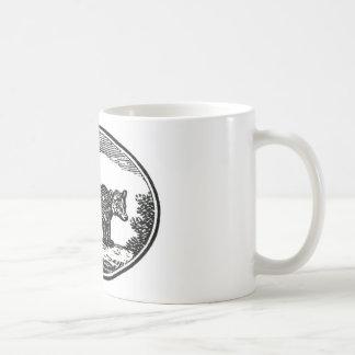 Primitive Woodcut - Bear Classic White Coffee Mug