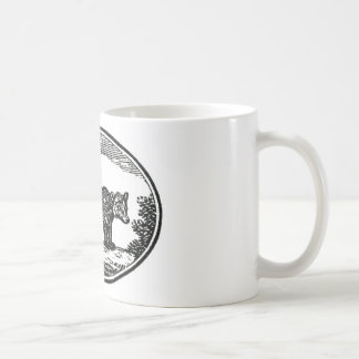 Primitive Woodcut - Bear Mug