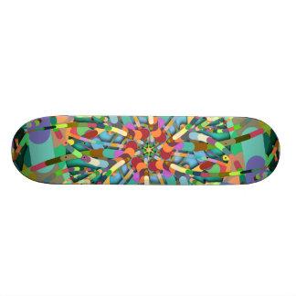 Primordial Egg - Emerald abstract burst Skate Deck