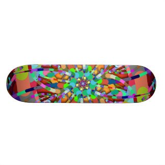Primordial Egg - Multi color abstract burst Skateboard Decks