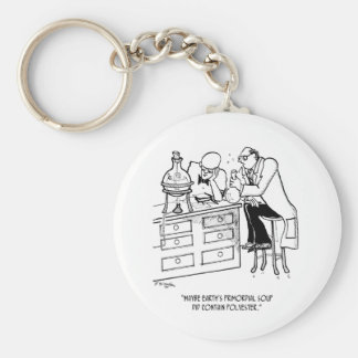 Primordial Soup Cartoon 9477 Keychain