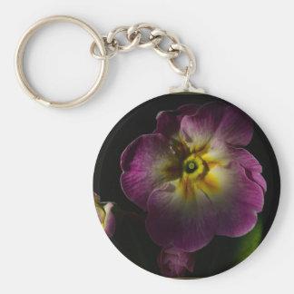 Primrose Basic Round Button Keychain