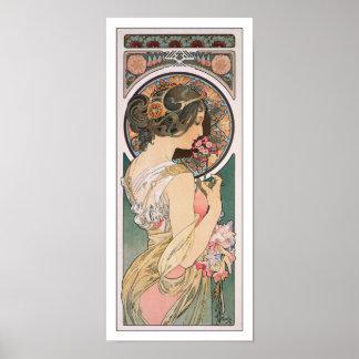 Primrose by Alphonse Mucha - Vintage Floral Art Poster