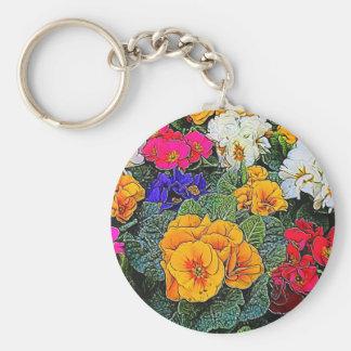 primrose in the garden keychain