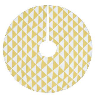 Primrose Yellow with White Coastal Geometric Arrow Brushed Polyester Tree Skirt