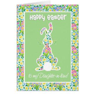 Primroses Cute Bunny Rabbit Easter Daughter-in-law Card