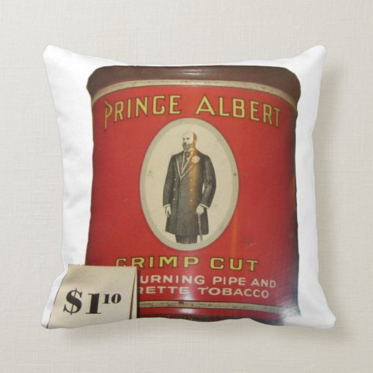 Prince Albert In A Can Novelty Throw Pillow