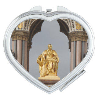 Prince Albert London Heart Compact Mirror