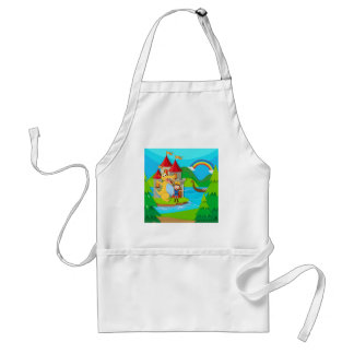 Prince and dragon in the fairy land standard apron