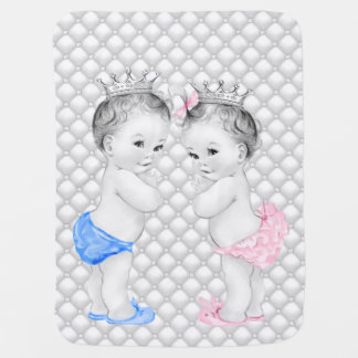 Prince and Princess Twin Baby Baby Blanket
