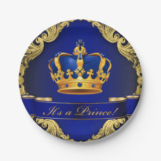 Prince Baby Shower Paper Plates