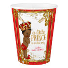 Prince Baby Shower Red Gold White Ethnic Paper Cup