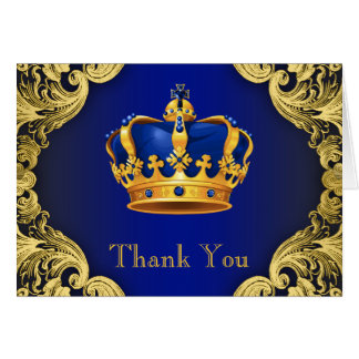 Prince Baby Shower Thank You Cards