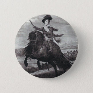 Prince Balthasar on Horseback by Velazque 2 Inch Round Button