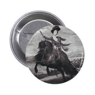 Prince Balthasar on Horseback by Velazque 2 Inch Round Button