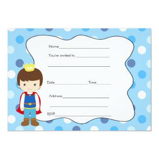 Prince Birthday Baby Shower Invitation Fill In