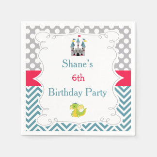 Prince Birthday Party Paper Napkin