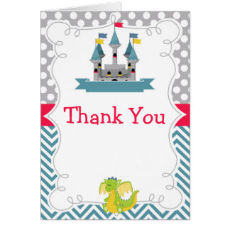 Prince Birthday Party Teal and Red Thank You Card