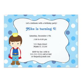Prince Boy Birthday Invitation