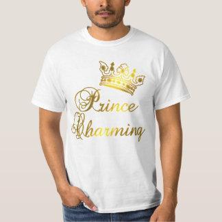 Prince charme dans le T-shirt d'or pour le bébé ou