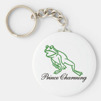 Prince Charming Basic Round Button Keychain