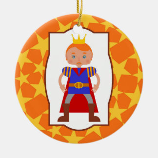 Prince Charming Boy Birthday Party Ceramic Ornament