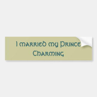 Prince Charming Bumper Sticker