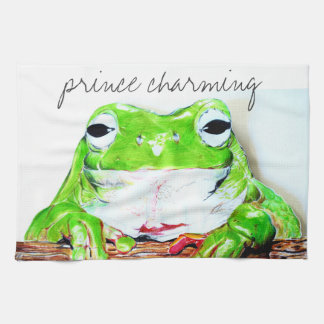 Prince charming frog hand towels
