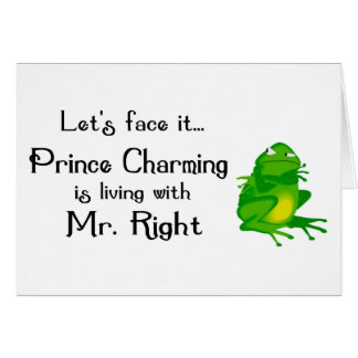 Prince Charming notecards Card