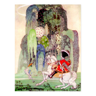Prince Charming on his White Horse by Kay Neilsen Postcard