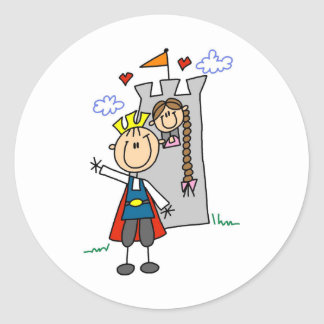 Prince Charming Rescues Rapunzel Sticker