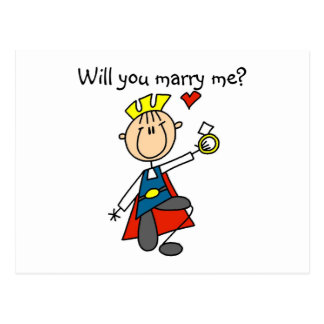 Prince Charming Will You Marry Me Postcard