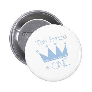Prince Crown 1st Birthday 2 Inch Round Button