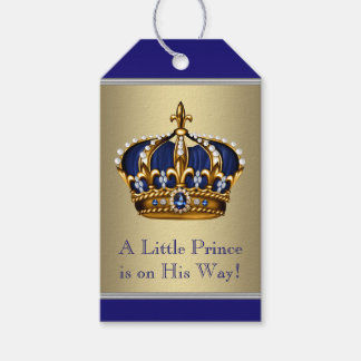 Prince Crown Baby Shower Pack Of Gift Tags