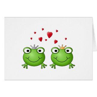 Prince de grenouille et princesse de grenouille, a carte de correspondance