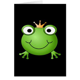 Prince de grenouille. Grenouille de sourire avec u Carte De Correspondance