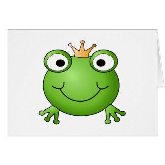 Prince de grenouille. Grenouille heureuse Carte De Correspondance