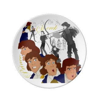 """Prince Derek Porcelain Sketch Plate (8.5"""") Porcelain Plates"""