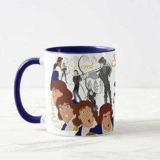 Prince Derek Sketch Mug with Colored Rim&Handle