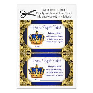 Prince Diaper Raffle Tickets Card