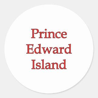Prince Edward Island Classic Round Sticker