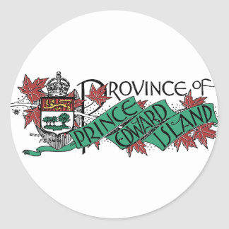 Prince Edward Island Vintage Coat of Arms Drawing Classic Round Sticker