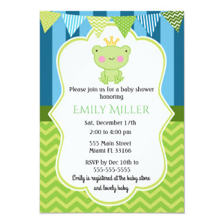 Prince Frog Baby Shower Invitation