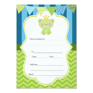 Prince Frog Invitation Fill In