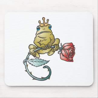 prince frog with rose mouse mat