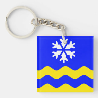 PRINCE GEORGE Flag Double-Sided Square Acrylic Keychain