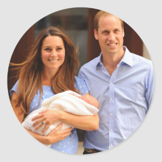 Prince George Royal Baby Classic Round Sticker