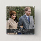 Prince Harry & Meghan Markle Royal Wedding 2018 2 Inch Square Button