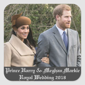 Prince Harry & Meghan Markle Royal Wedding 2018 Square Sticker